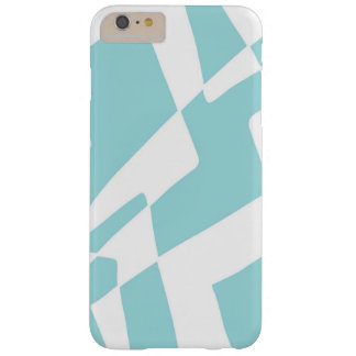 Blue and White Abstract Design Minimalist Squares Barely There iPhone 6 Plus Case