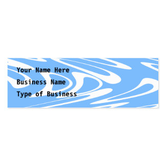 Blue and White Abstract Pattern Business Card Template