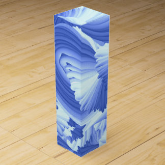 Blue and White Abstract Wine Box