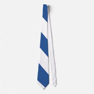 Blue and White Air Hawk Diagonal-Striped Tie