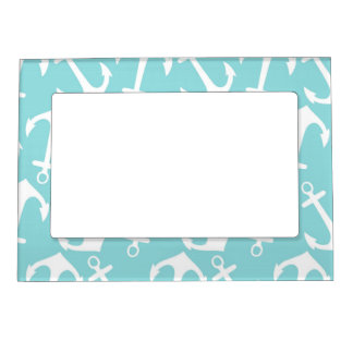 Blue and White Anchor Print Frame