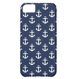 Blue and White Anchors iPhone 5C Case
