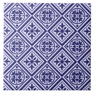 Blue And White Art Deco Modern Pattern Trivet