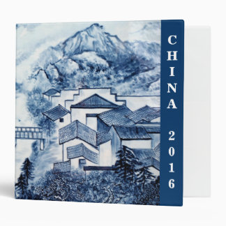 Blue and White Asian Travel photo Binder