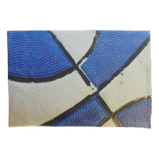 Blue and White Basketball Pillow Case Pillowcase