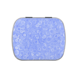 Blue And White Bubbles Candy Tin
