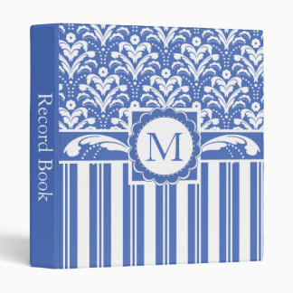 Blue and White Business Accounts Record Book 3 Ring Binders