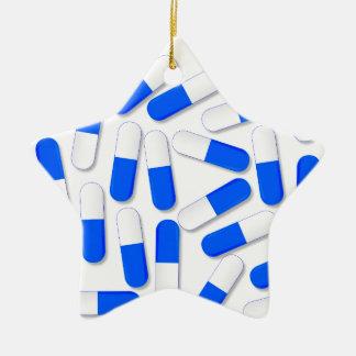 Blue And White Capsules Ceramic Star Ornament