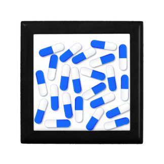 Blue And White Capsules Gift Box