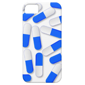 Blue And White Capsules iPhone 5 Case