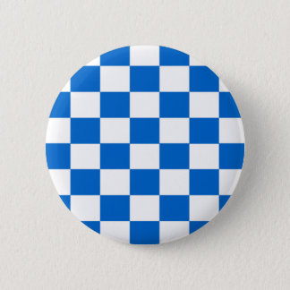 Blue and White Checkerboards 2 Inch Round Button
