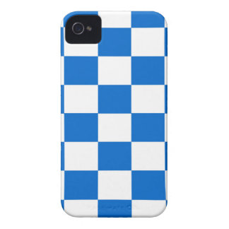 Blue and White Checkerboards Case-Mate iPhone 4 Cases