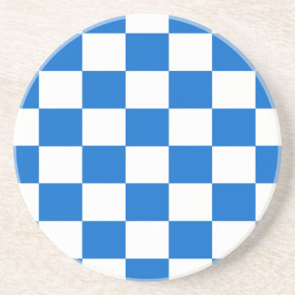 Blue and White Checkerboards Coaster