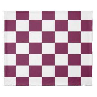 Blue and White Checkerboards Duvet Cover