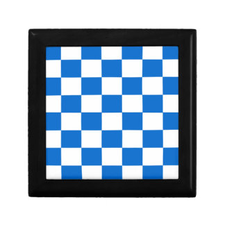 Blue and White Checkerboards Gift Box