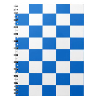 Blue and White Checkerboards Notebooks