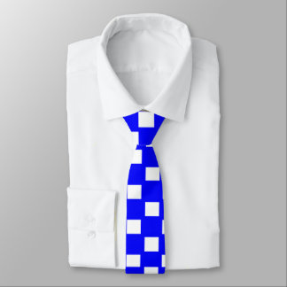 Blue and White Checkered Skinny Tie