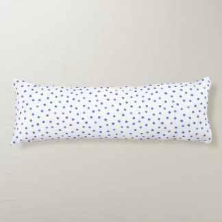 Blue and White Confetti Dots Pattern Body Pillow