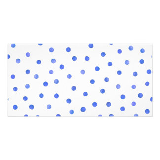 Blue and White Confetti Dots Pattern Card