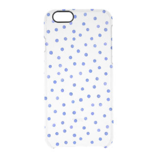 Blue and White Confetti Dots Pattern Clear iPhone 6/6S Case
