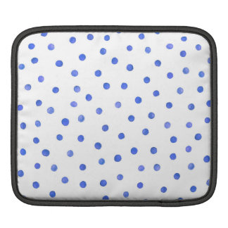 Blue and White Confetti Dots Pattern iPad Sleeves