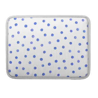 Blue and White Confetti Dots Pattern Sleeves For MacBook Pro