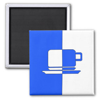 Blue and White Cup Magnet