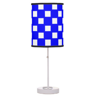 Blue and White Custom Patterned Shaded Table Lamp