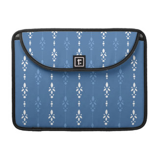 Blue and White dainty wallpaper styled design Sleeve For MacBook Pro