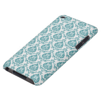 Blue and White Damask Barely There iPod Covers