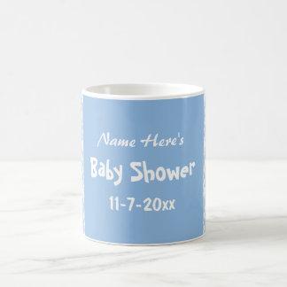 Blue and White Damask Pattern, Custom Baby Shower Coffee Mug