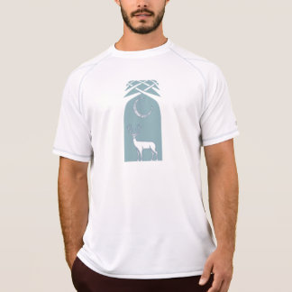 Blue And White Deer In The Forest Celtic Art T-Shirt