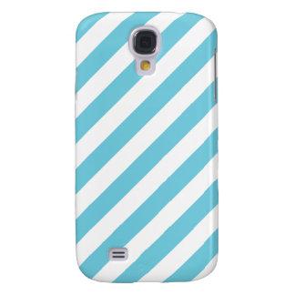 Blue and White Diagonal Stripes Pattern
