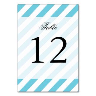 Blue and White Diagonal Stripes Pattern Card