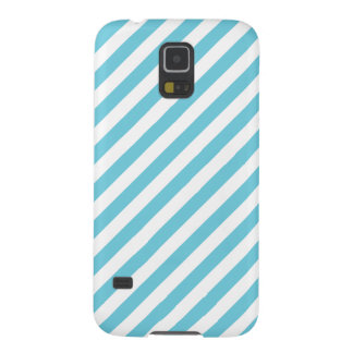Blue and White Diagonal Stripes Pattern Cases For Galaxy S5