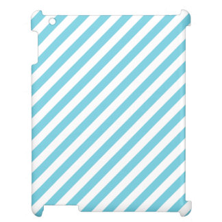 Blue and White Diagonal Stripes Pattern Cover For The iPad 2 3 4