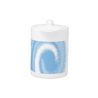 Blue and White Digital Graphic Spiral Wave