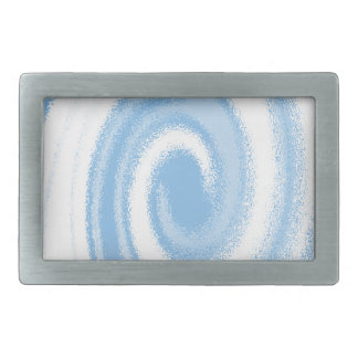 Blue and White Digital Graphic Spiral Wave Belt Buckles