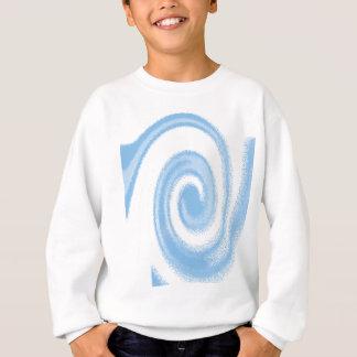 Blue and White Digital Graphic Spiral Wave Sweatshirt