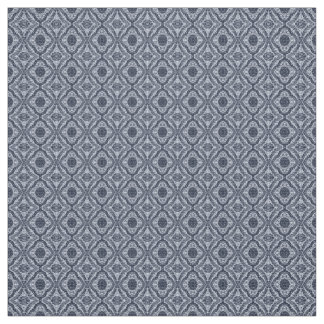 Blue and White Doodle Damask Fabric