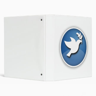 Blue and White Dove of Peace Binders