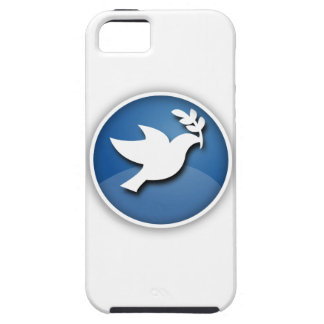 Blue and White Dove of Peace iPhone 5 Cover