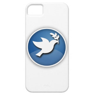 Blue and White Dove of Peace iPhone 5 Covers