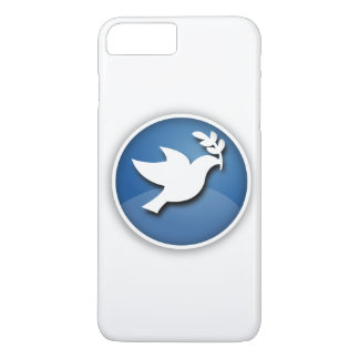 Blue and White Dove of Peace iPhone 7 Plus Case