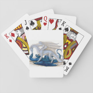 Blue and White Dragons Kissing..🐉💋 Playing Cards