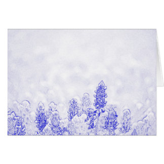 Blue and White Elegance Card