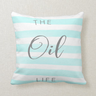 Blue and White Essential Oil Throw Pillow