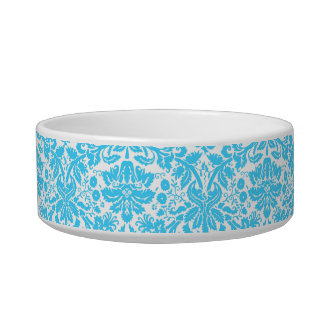 Blue and White Fancy Damask Patterned Bowl