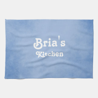 Blue and White Fancy Towel