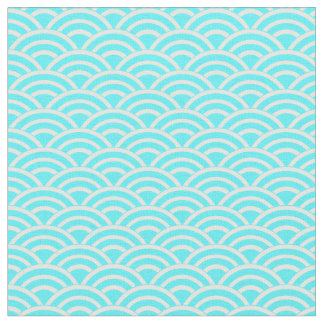 Blue and White Fans Fabric